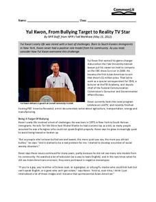 Yul Kwon, from Bullying Target to Reality TV Star Worksheet