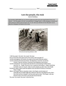 I Am the People, the Mob Worksheet