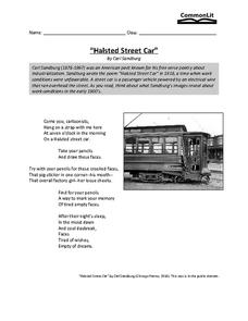 """Halsted Street Car"" Worksheet"