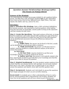 The House on Mango Street: Question Answer Relationships Strategy ...