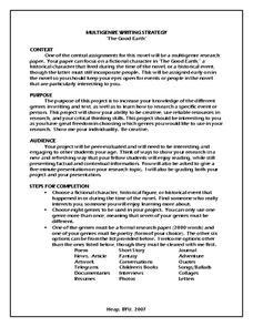 genre lesson multi paper plan research