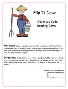 Flip It Down - Advanced Code Reading Game Activities & Project