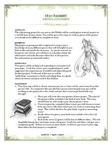 The Hobbit: Writing Assignment Lesson Plan
