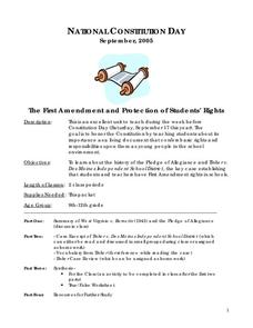 National Constitution Day Lesson Plan