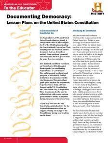 Documenting Democracy: Lesson Plans on the United States Constitution Lesson Plan