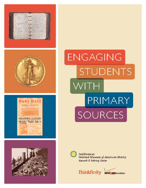 Engaging Students with Primary Source Worksheet