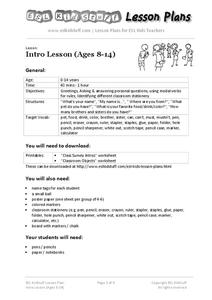 Esl greetings lesson plans worksheets reviewed by teachers intro esl lesson ages 8 14 m4hsunfo