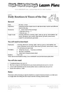 Daily Routines & Times of the Day Lesson Plan