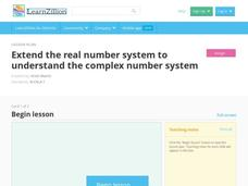 Extend the Real Number System to Understand the Complex Number System Video