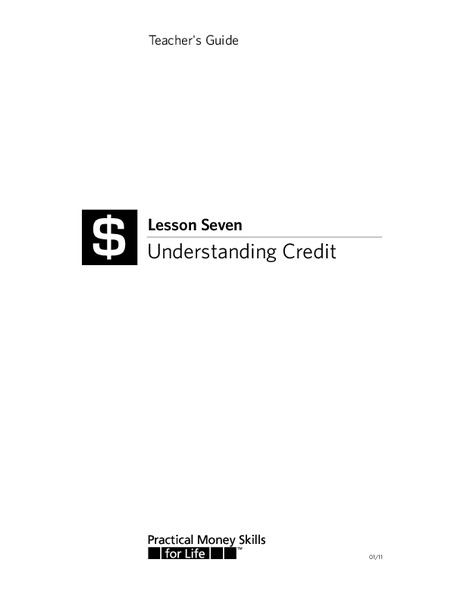 Understanding Credit Lesson Plan