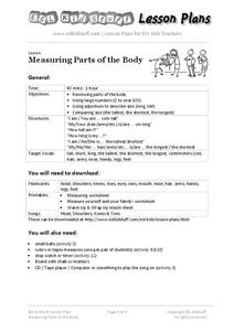 Measuring Parts of the Body Lesson Plan