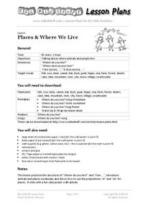 Places & Where We Live Lesson Plan