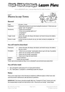 Places in My Town Lesson Plan