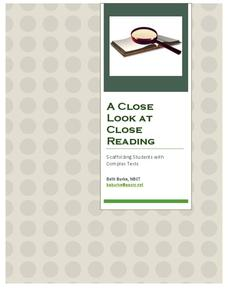 A Close Look at Close Reading Activities & Project