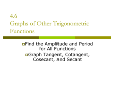 Graphs of Other Trigonometric Functions Presentation