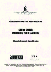 Study Skills: Managing Your Learning Unit