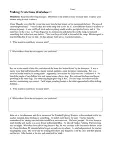 predictions lesson plans worksheets reviewed by teachers
