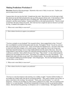 Making Predictions #3 Worksheet