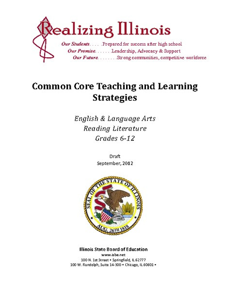 Common Core Teaching and Learning Strategies Lesson Plan for 6th