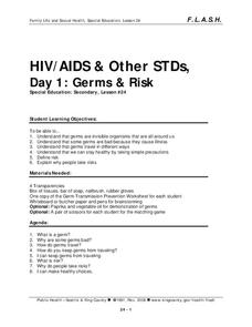 Lesson 24: HIV/AIDS & Other STDs - Day 1: Germs & Risk Lesson Plan