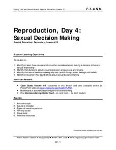 Lesson 22: Reproduction - Day 4: Sexual Decision-Making Lesson Plan