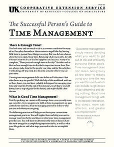 The Successful Person's Guide to Time Management Unit