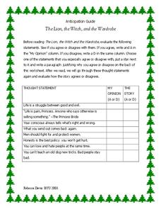the lion the witch and the wardrobe worksheets pdf