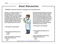 Great Discoveries Worksheet