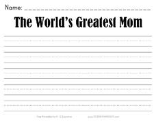 The World's Greatest Mom Worksheet