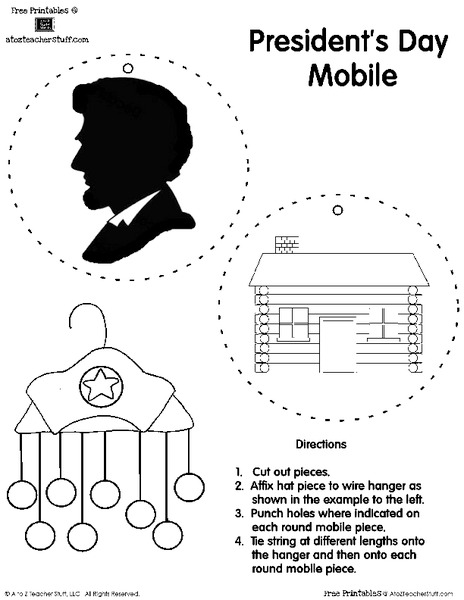 Presidents' Day Mobile Printables & Template for