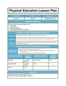 Physical Education Lesson Plan 1st - 3rd Grade Lesson Plan ...