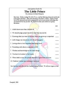 The Little Prince: Anticipation Guide Lesson Plan