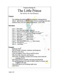 The Little Prince: Biopoem Strategy Lesson Plan
