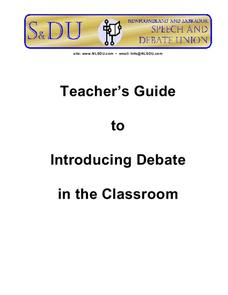 Introducing Debate in the Classroom Unit