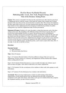 The Kite Runner: Setting Poem Lesson Plan