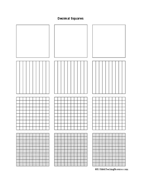 Transformative image with regard to printable hundredths grids