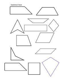 Quadrilaterals Pack 1 Printables & Template for