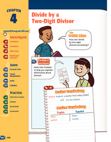 Divide by a Two-Digit Divisor Worksheet