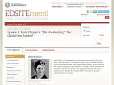 "Kate Chopin's ""The Awakening"": No Choice But Under? Lesson Plan"