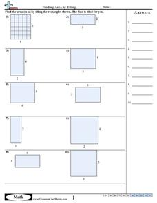 Finding Area by Tiling Worksheet