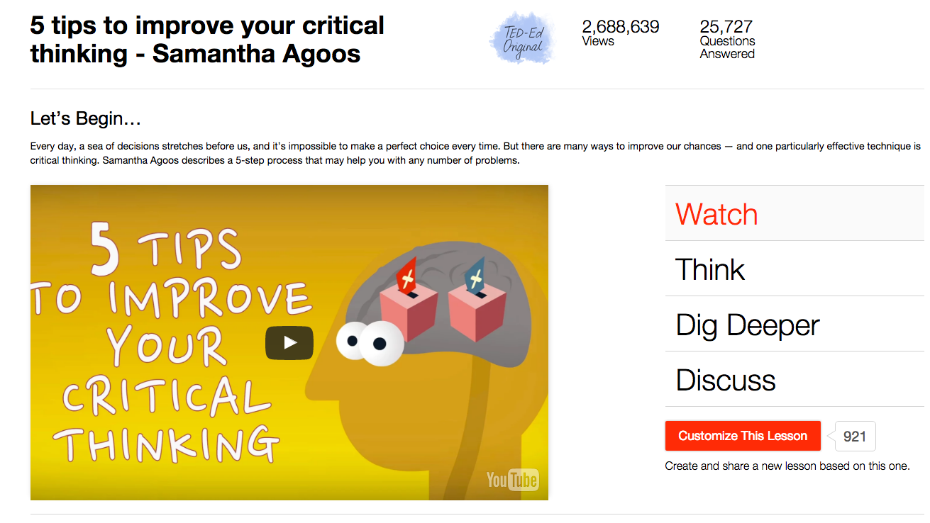 5 Tips to Improve Your Critical Thinking Video