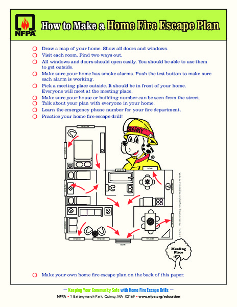 How to Make a Home Fire Escape Plan Activities & Project