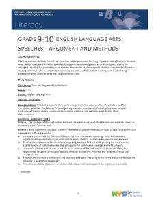 Speeches: Argument and Methods Unit