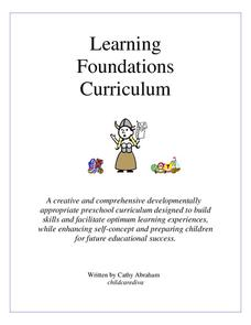 Learning Foundations Curriculum Activities & Project