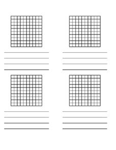Base Ten Hundreds Flats (4 per Page) Printables & Template