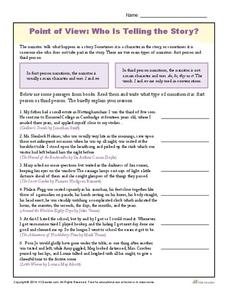 Point of View: Who Is Telling the Story? Worksheet for 4th ...