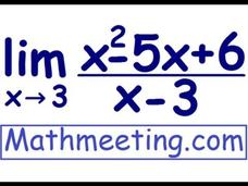 Solving Limits by Factoring Video