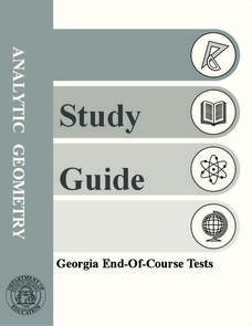 Analytic Geometry Study Guide Worksheet