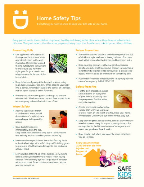 Home Safety Tips Handouts & Reference