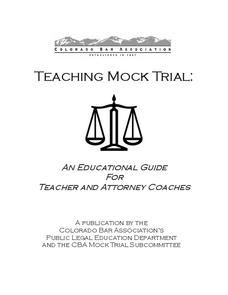 Teaching Mock Trial Unit